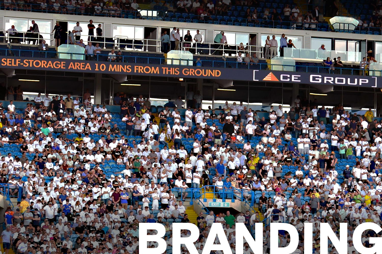 Branding Shown at Elland Road Stadium
